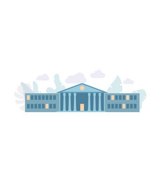 the long building institute bank vector image