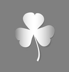 trefoil clover cut from paper vector image