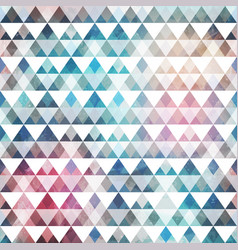Triangle pattern with grunge effect vector