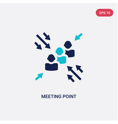 Two color meeting point icon from human resources vector