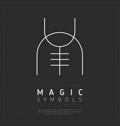 white lines of magical symbol on gray vector image