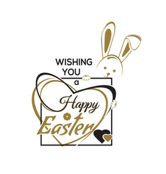 wishing you a happy easter easter hand lettering vector image