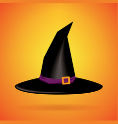 witch hat isolated background happy halloween day vector image