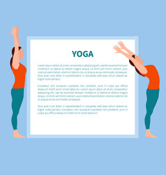 Yoga poster with text sample vector