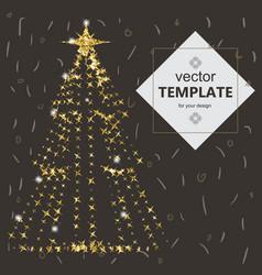 beautiful elegant christmas tree vector image