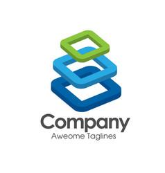 building blocks logo vector image