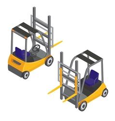 Forklift Transport Isometric Transportation Cargo vector image vector image