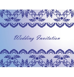 Wedding Lace Invitation Card vector image