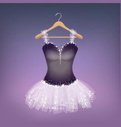 ballet dress on hanger vector image