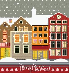 Christmas city vector image vector image