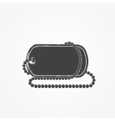 Dog tag chain Detailed elements Isolated object vector image
