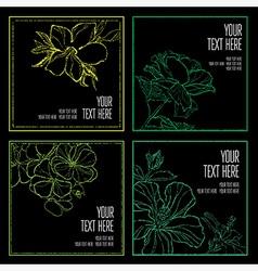 floral back big set 8 grunge vector image vector image