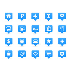 navigation icons set vector image vector image