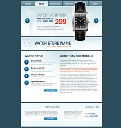 watch store web template vector image vector image