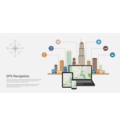 gps 5 vector image vector image