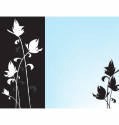 oriental floral background in blue vector image vector image