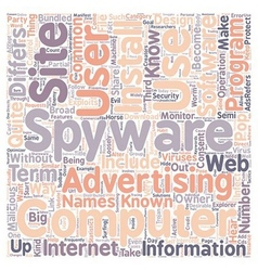 Spyware Know Your Enemy text background wordcloud vector image vector image