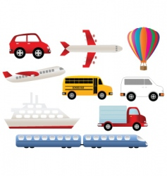 transportation and travel vector image