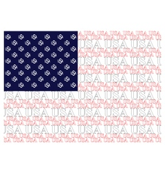 United States of America Text Flag vector image