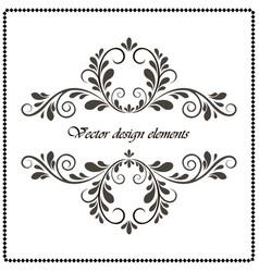 vintage decorative element calligraphic frame vector image