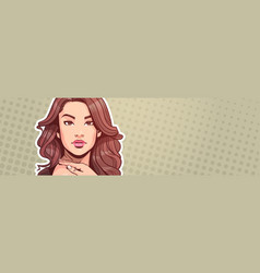 beautiful woman portrait attractive female with vector image