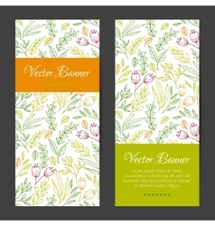 vertical banners cards invitations set vector image vector image