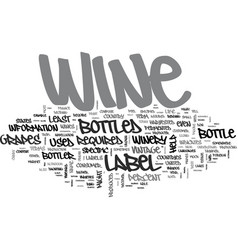 wine labels decoded text word cloud concept vector image