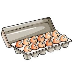 A dozen of eggs vector image