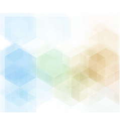 abstract geometric background blue hexagon vector image