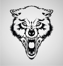 Angry Wolf Head vector