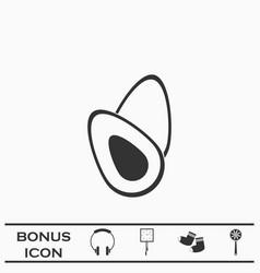 Avocado fruits icon flat vector