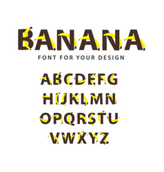 Banana font template design vector
