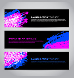 banner covers with abstract hand drawn pattern vector image vector image