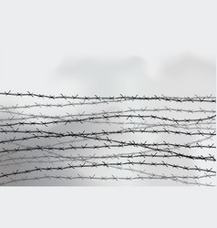 Barbed wire fencing fence made wire vector