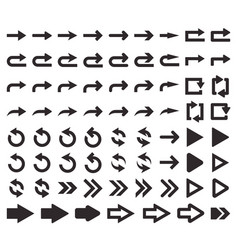 Big set arrows vector