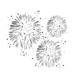 Black and white fireworks vector