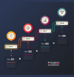 Business infographic with timeline for business vector