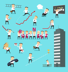 businessman business situations concepts icons vector image
