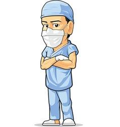 Cartoon surgeon vector
