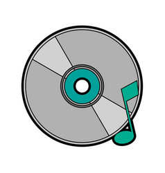 cd with quaver or eight note music icon image vector image