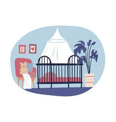 children s room interior design in hand drawn vector image