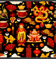 Chinese new year holiday seamless pattern vector