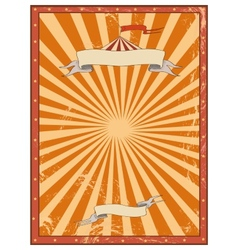 Circus red vintage background for a poster vector image