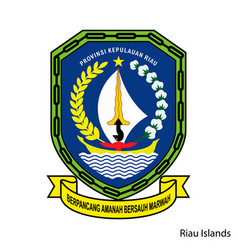 Coat arms riau islands is a indonesian vector