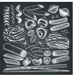 Collection of italian pasta vector