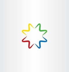 colorful gradient star icon logo symbol element vector image