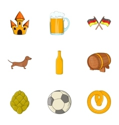 Country of Germany icons set cartoon style vector