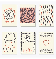 Cute patterns for placards posters flyers and vector image