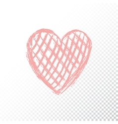 doodle red heart vector image