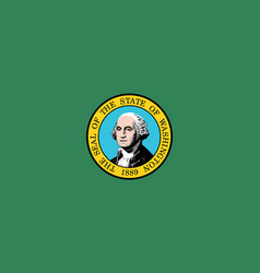 flag of the usa state of washington vector image